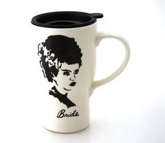 Hey, I found this really awesome Etsy listing at https://www.etsy.com/listing/192952345/bride-of-frankenstein-travel-mug-can-be