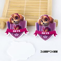 50pcs/lot Cartoon Animals United Resin Flatback Kawaii Dog Skye Planar Resin DIY Craft for Home Decoration Accessories DL-533