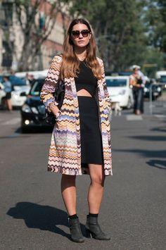 Milan Fashion Week Spring 2014 Street Style