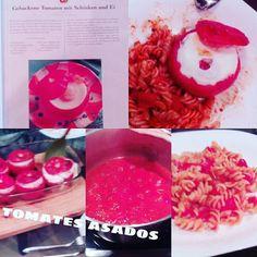 Abendessen in Spanien. Gefüllte Tomaten mit Ei und Schinken. Tomata asados. Sehr lecker #foodstyle #foodporn #pornfood #instacolor #instaphoto #instapic #instapicture #instafood #tomate #tomato #spanien #spain #urlaub #sommer #sonne #holidays #sun #summer #bunny #essen