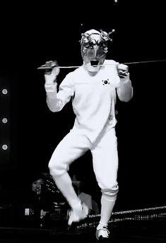 """ Jungkook's fencing dance """