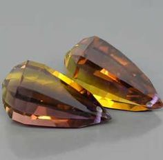 PAIR:  DAZZLING AAA Purple & Golden Bolivia Ametrine Briolette Cut (Drilled)