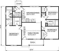 this traditional design floor plan is 1196 sq ft and has 3 bedrooms and has 2 bathrooms