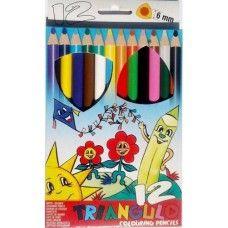12 darabos, vastag háromszög alakú színes ceruza készlet Triangulo - Színes ceruzák - 1,269Ft - Színes ceruza készlet