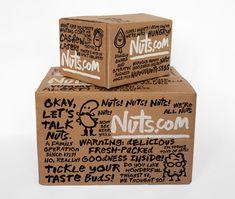 Nuts.com logo, identity,& packaging / pentagram