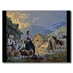 Shepherdesses Hut on the Mountain Post Card