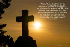 Inspirational illustration of Romans 8:31-32