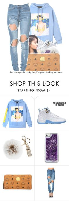 """"""" i love it when you dress , i found a girl that match my swag .... """" by ta-voriaa ❤ liked on Polyvore featuring Hood by Air, Overland Sheepskin Co. and MCM"""