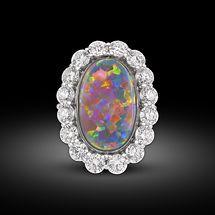 GABRIELLE'S AMAZING FANTASY CLOSET | Lightning Ridge Black Opal Ring 8.82 Carats |