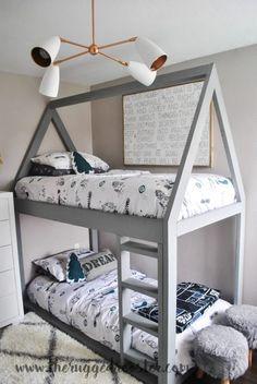 http://www.theruggedrooster.com/boys-bedroom-reveal/ , Boys Bedroom Reveal, Little Boys Bedroom, Boys Bedroom, Boys Grey and Black Bedroom, Moroccan Rug, Kids Room