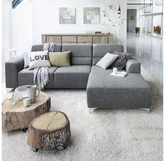bank longchair - Google zoeken (this couch but the chaise on the right and then another couch in front of the window