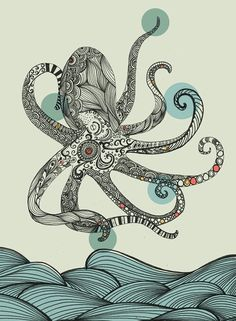 dessin pieuvre / Octopus drawing
