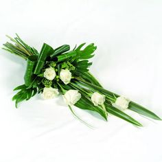beautiful symbol of life, a floral tribute is a wonderful and much appreciated way to express your feelings for a friend or loved one. This elegant spray is suitable for delivery to the home or funeral service. Funeral Bouquet, Funeral Flowers, Wedding Flowers, Arrangements Funéraires, Funeral Floral Arrangements, Green Funeral, Funeral Sprays, Flower Factory, Beautiful Symbols