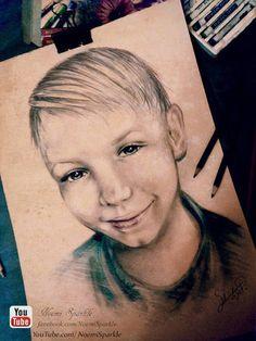 #art #draw #little #boy #child #noemisparkle #how to #crayons #pencil #youtube #realistic #portrait