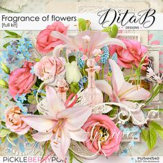 DitaB Designs: NEWCOLLECTION FRAGRANCE OF FLOWERS individua... Digital Scrapbooking, Overlays, Floral Wreath, Fragrance, Flowers, Inspiration, Collection, Design, Products