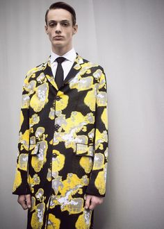 Glitchy flower suit backstage at Dior Homme AW15 PFW. See more here: http://www.dazeddigital.com/fashion/article/23369/1/dior-homme-aw15