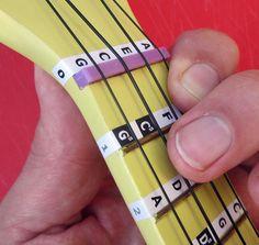 Beginners UKULELE MUSIC NOTE FRET STICKERS Children's Uke Label Decals + Lessons in Musical Instruments, String, Folk & World | eBay