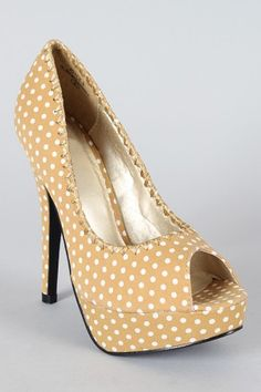 Polka dot heels in black, camel, red and pink! Polka Dot Heels, Polka Dots, Polka Dot Wedding, Black Camel, Kinds Of Shoes, Polka Dot Print, Peep Toe Pumps, Red And Pink, Me Too Shoes