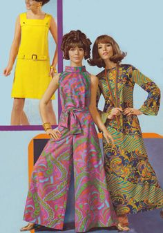 1960s fashion. Models of the 60s looked completely different than they do today.