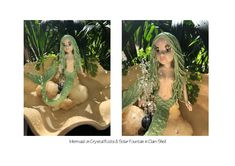 Ceramic Sculpture Mermaid, Crystals, Solar Fountain for covered Garden or Interior Feature Funky Gifts, Covered Garden, Beach Gifts, Funky Art, Mother Nature, Fountain, Solar, Surfing, Sculptures