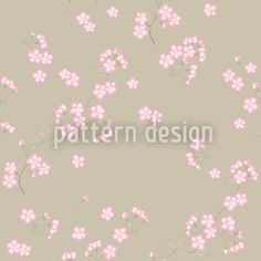 Cherry Blossoms On Sand designed by Martina Stadler available on patterndesigns.com