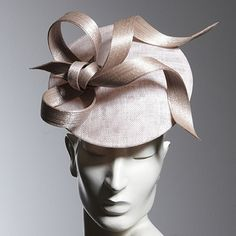 Philip Treacy London | Chalk Disc Bow | Tiza Disco y | LOVEHATS.COM