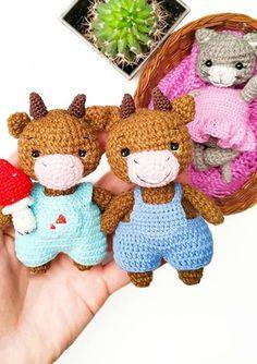 Cute Crochet Bull Amigurumi PDF Free Pattern - Lovelycraft