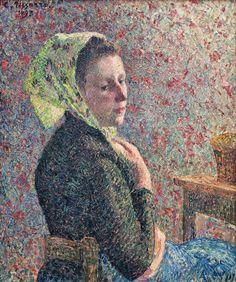 Camille Pissarro 1830 - 1903   Woman with Green Scarf