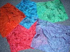 Naturally dyeing play silks...