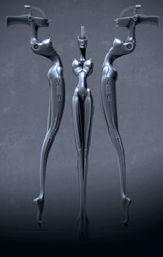 H.R. Giger Microphone Stand for KoRn by Emiliano Calisti (3D)