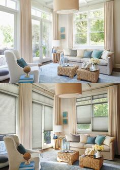 Add an extra layer of energy efficiency, privacy, light control and style with Alustra® Duette® Architella® honeycomb shades. Interior, Honeycomb Shades, Family Room, Window Styles, Home Decor, Motorized Window Treatment, Interior Design, Large Window Treatments, Window Treatments