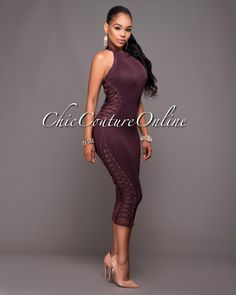 Chic Couture Online - Fiorenza Maroon Lace-Up Sides Luxe Bandage Dress.(http://www.chiccoutureonline.com/fiorenza-maroon-lace-up-sides-luxe-bandage-dress/)