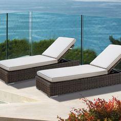 Outdoor Wicker 3 Piece Chaise Set   Thos. Baker #wickerfurniture