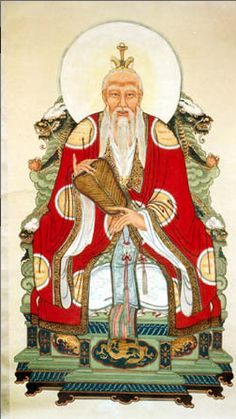 Chinese Emperor in Red