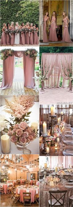 Dusty rose wedding ideas / http://www.deerpearlflowers.com/28-dusty-rose-wedding-color-ideas/2/
