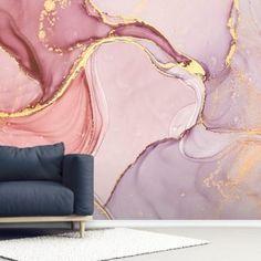 Marble Effect Wallpaper, Metallic Wallpaper, Watercolor Wallpaper, Pink Wallpaper, Wall Wallpaper, Bathroom Wallpaper, Landscape Wallpaper, Perfect Wallpaper, Metallic Paint