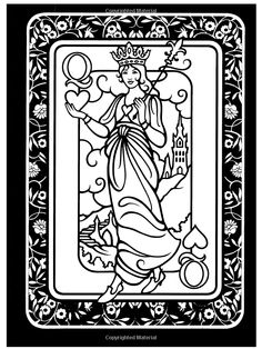 1000 images about color me crazy on pinterest adult for Playing cards coloring pages