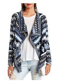Marled Tribal Cascade Cardigan Sweater