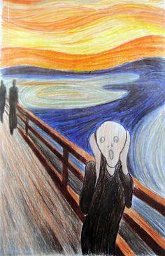 """Reprodução de """"O Grito - Edward Munch"""""""