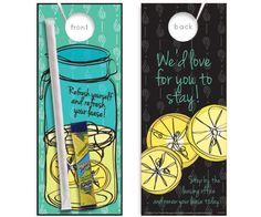 NEW! Lease Refreshment<BR>(w/Wyler's Lemonade Mix and Straw) -- <br>Deliver delicious treats directly to resident's doors! <br> Colorful graphics appear both on the front and back of the door hanger. A paket of refreshing Wyler's Lemonade Mix and a drinking straw are attached. A delicious treat and an easily delivered message make this enhanced door hanger the perfect gift to show resident appreciation.<br>Residents arriving home to find this surprise on their door will remember your message…