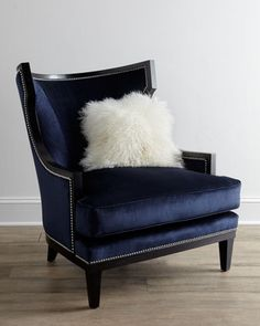 """Elmira"" Blue Armchair at Horchow."