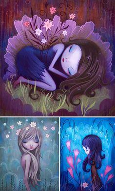 Jeremiah Ketner - Ilustraciones, diseño, fotografía y publicidad. Fairies, Hadas del bosque, flores, fantasía fantasia Fantasy