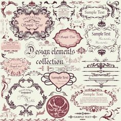 Vector set of calligraphic design elements and floral frames Stock Photo - 14845321