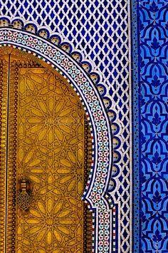 Beautiful mosaic and door