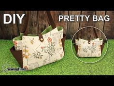 Como fazer bolsa bonita - passo a passo Diy Tote Bag, Diy Purse, Bag Pattern Free, Bag Patterns To Sew, Patchwork Bags, Quilted Bag, Diy Bags Purses, Fabric Bags, Cloth Bags