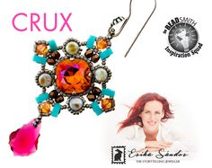 Crux earrings instant dowload for the pdf instructions for a
