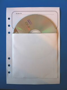 My Life All in One Place: CD/DVD storage inserts for your A5 Filofax