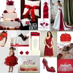Black, Red, and White themed wedding...