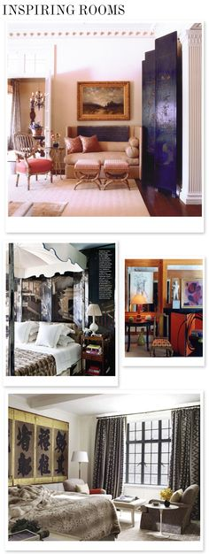 Inspiring rooms featuring decorative screens. Good Bones, Great Pieces