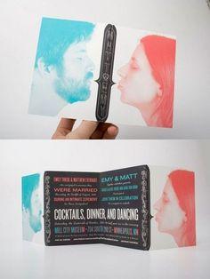 Para él y para ella...una invitación doble de lo más original